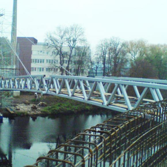 footbridge across Jizera in the Mladá Boleslav